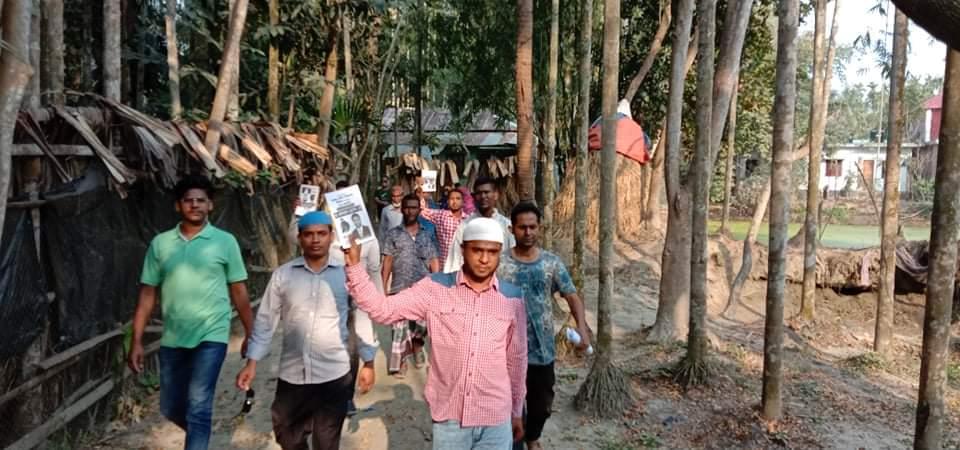 প্রচারের শেষ দিনেও কাউন্সিলর প্রার্থী মোশারফ শিকদারের ব্যাপক গণসংযোগ